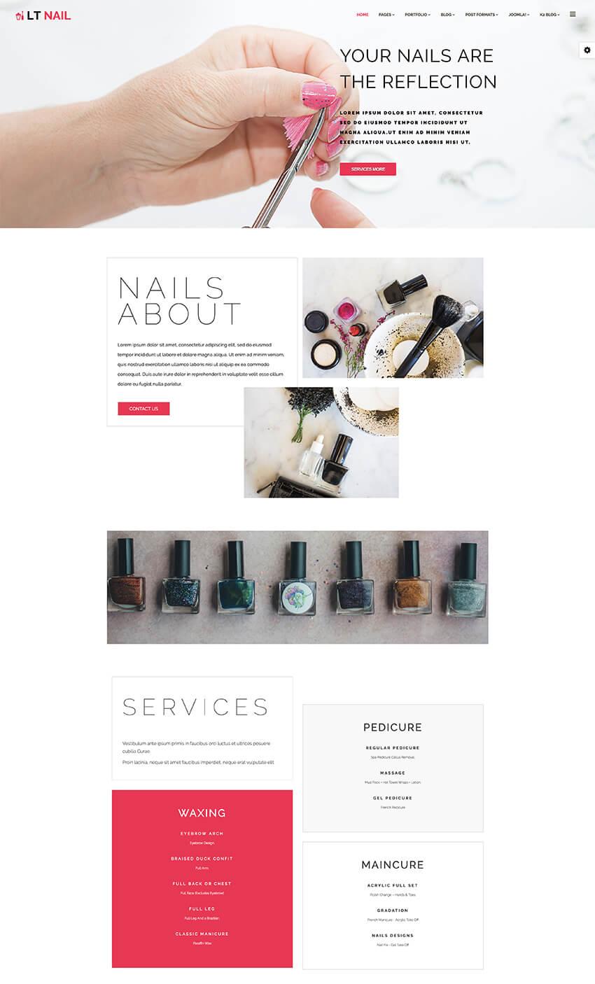 LT Nail Joomla fashion and beauty template