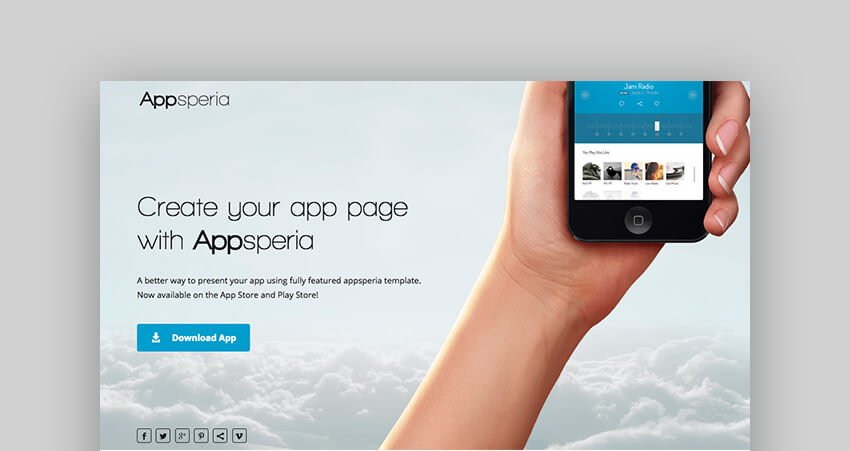 Appsperia app landing page template