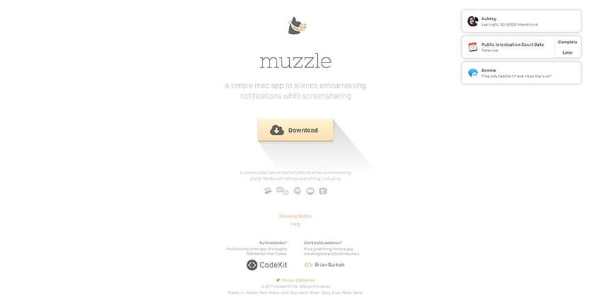 Muzzles landing page
