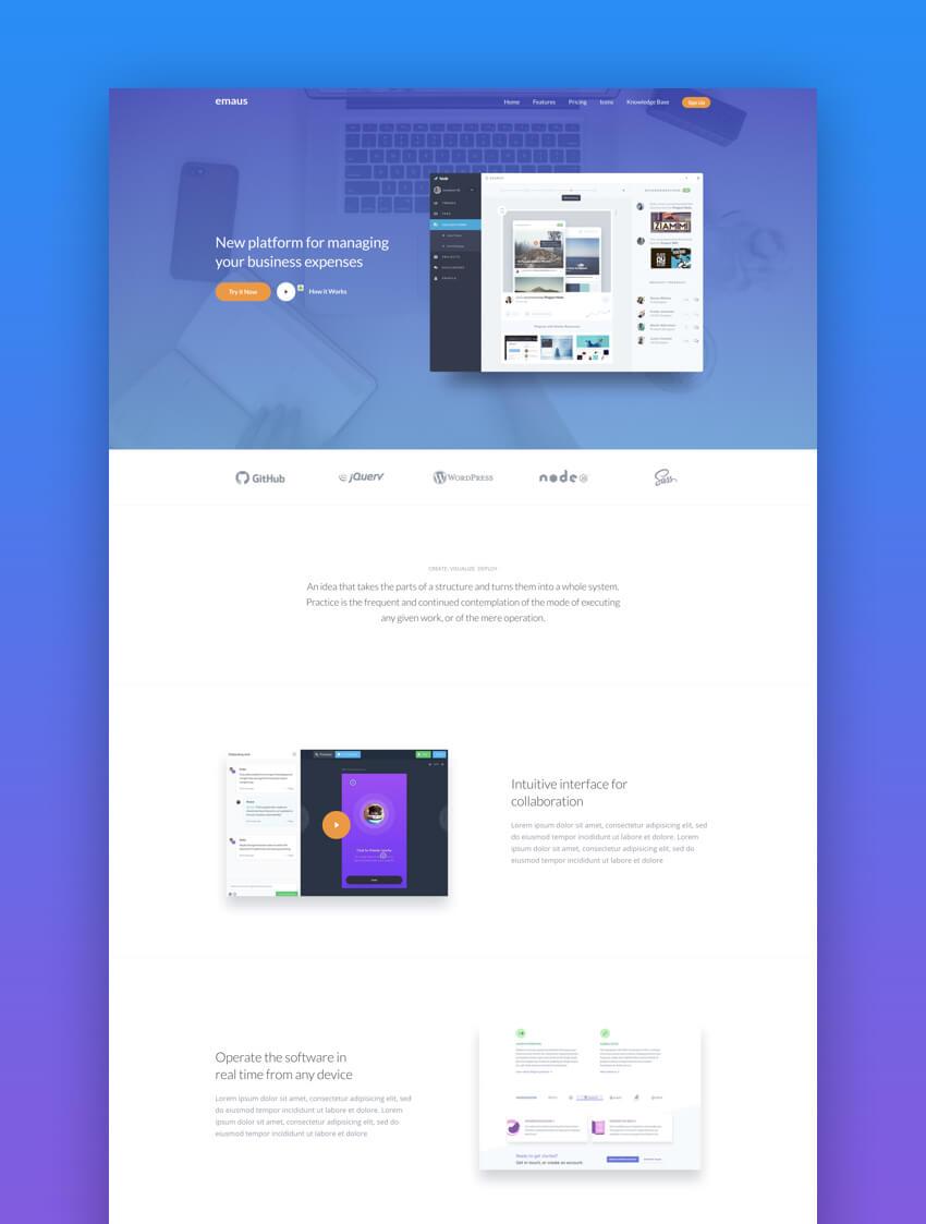 Emaus ebook landing page template