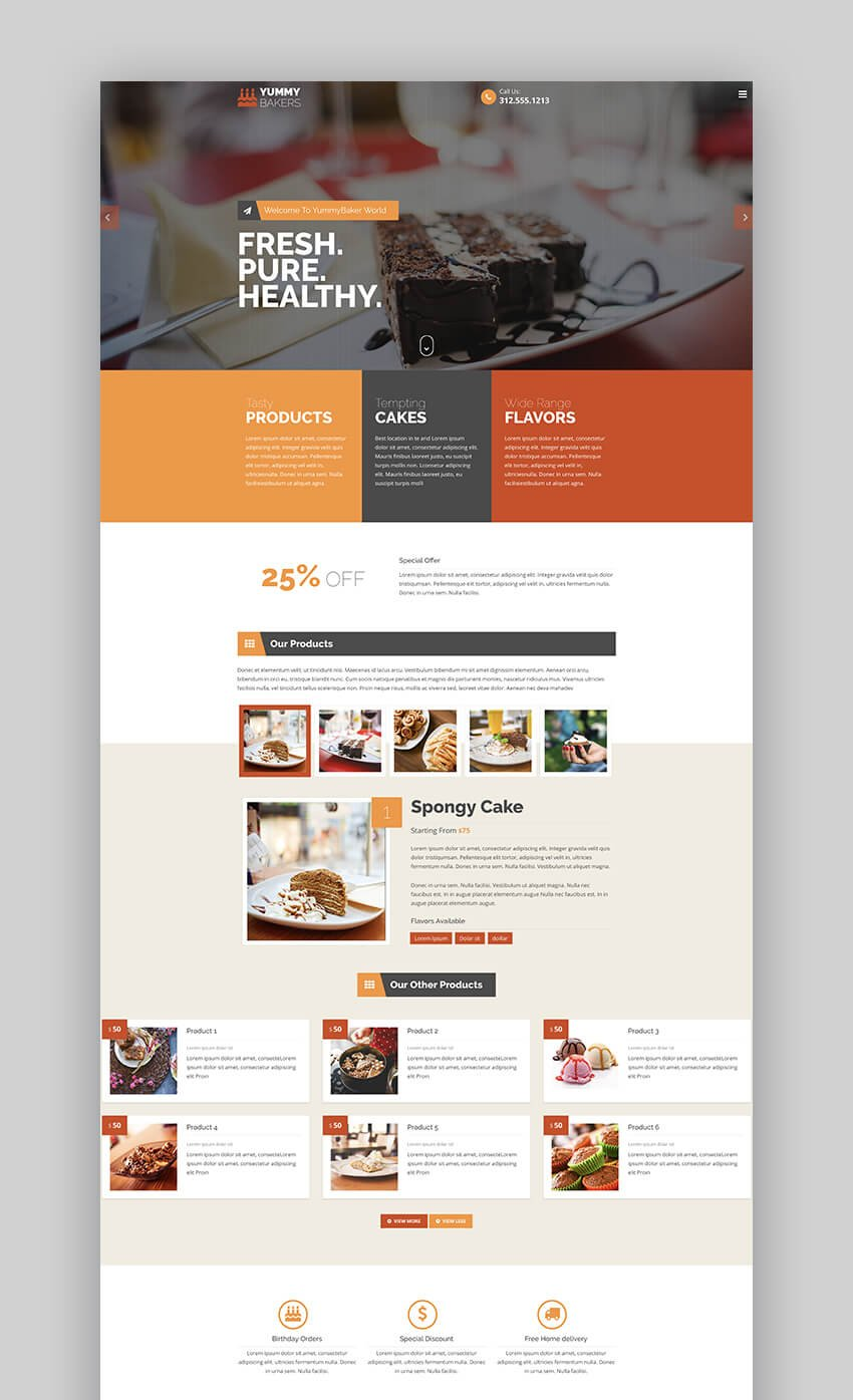 Products Services product landing page