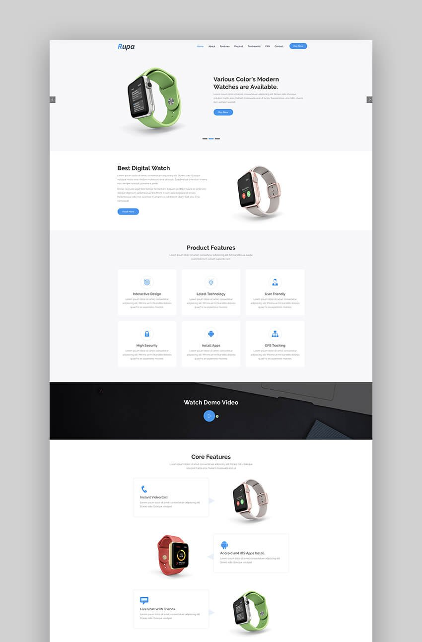 Rupa product landing page