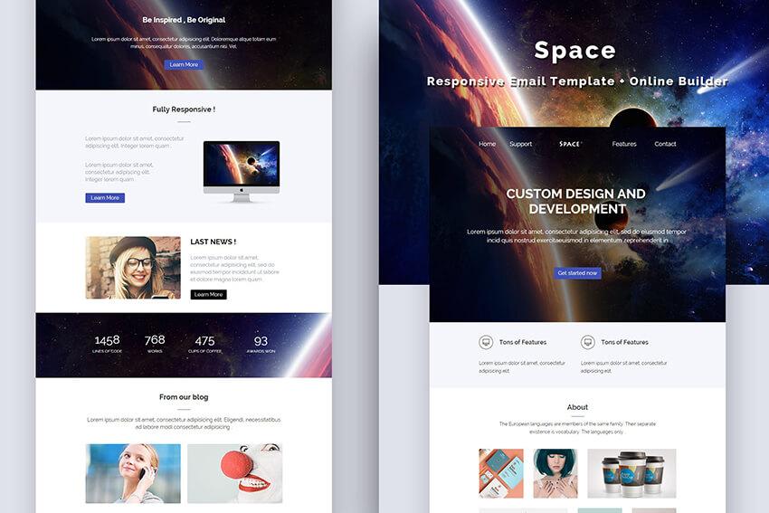 Space Mailchimp Email Design