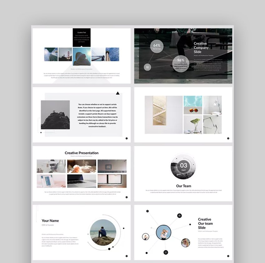 Report Creative Business PowerPoint Template for PowerPoint Layout Ideas