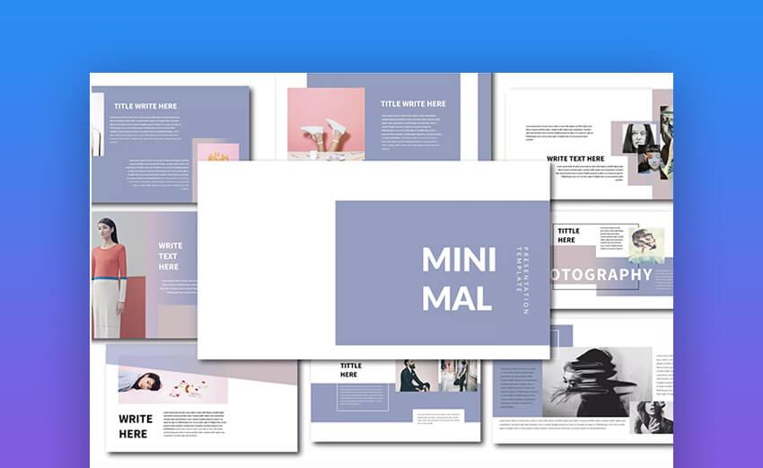 Minimal PowerPoint template
