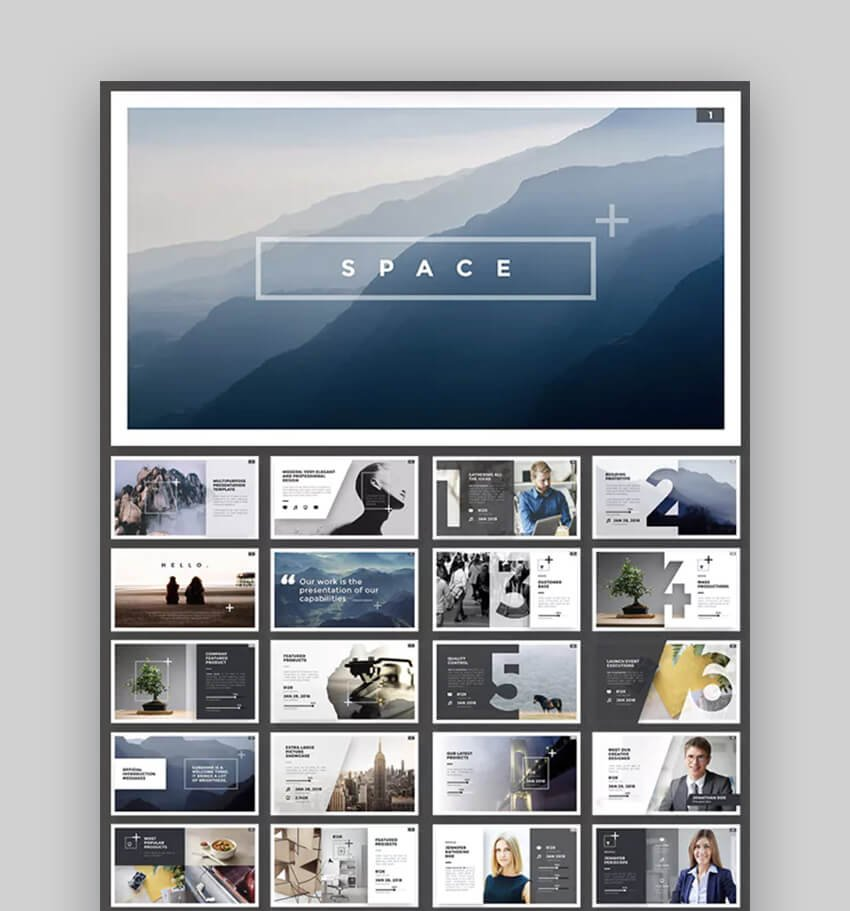 Space PowerPoint template