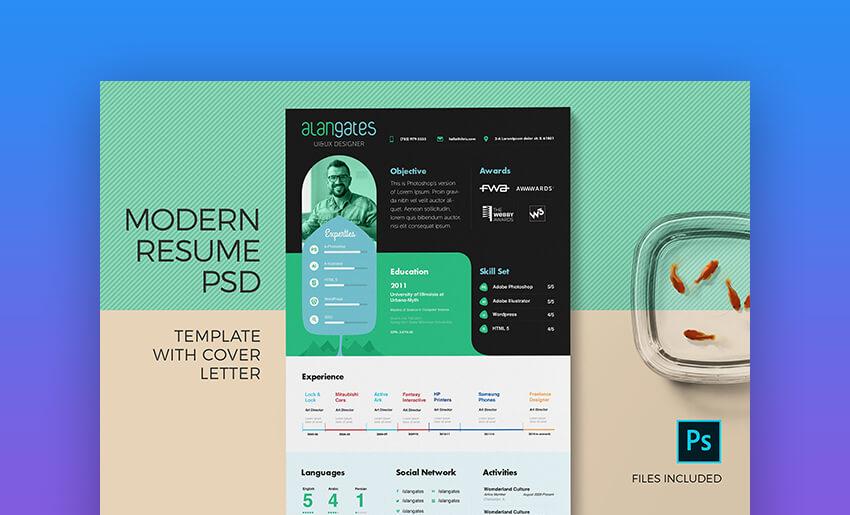 Modern Resume Template  Cover Letter