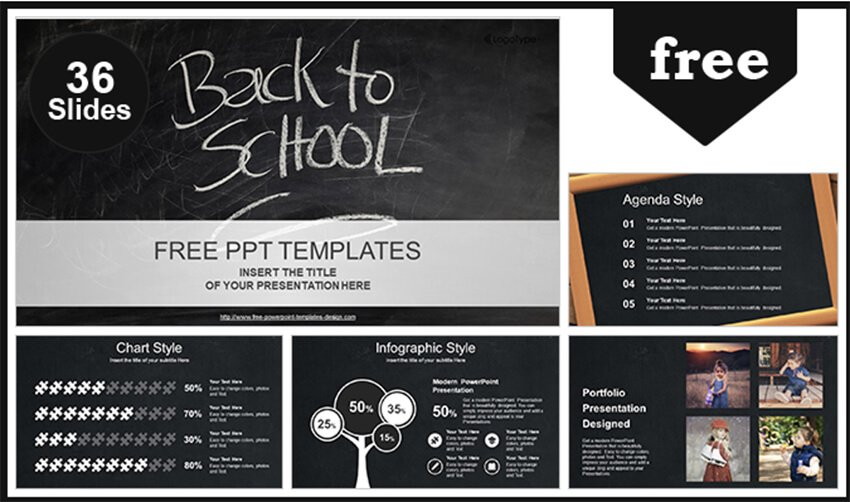 Back to School Template PowerPoint Gratis