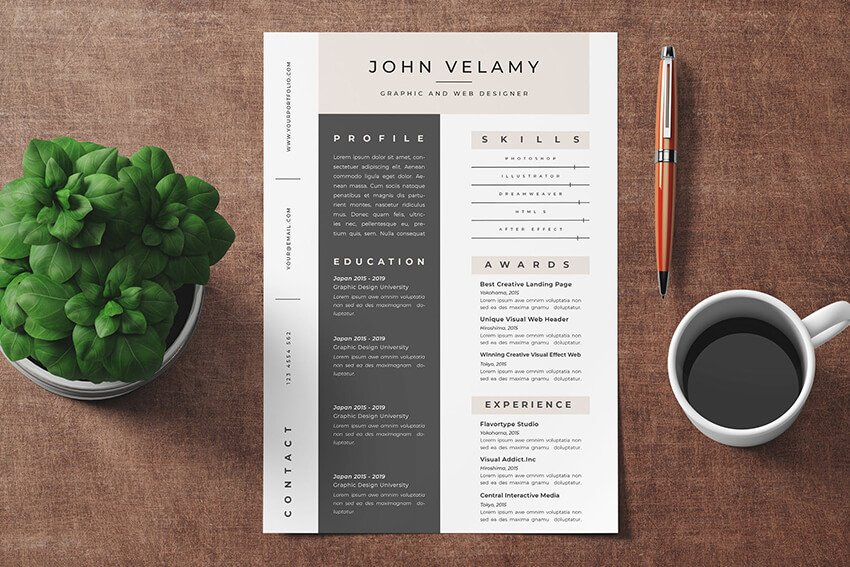 Resume Vol 7 from Envato Elements