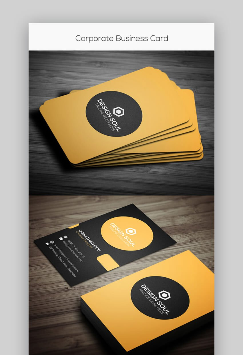 Simple Photoshop Corporate Business Card