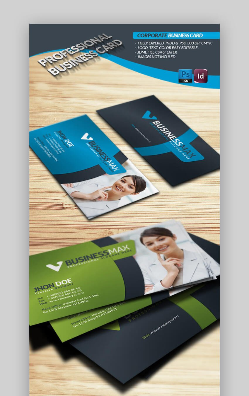 InDesign Corporate Business Card Template