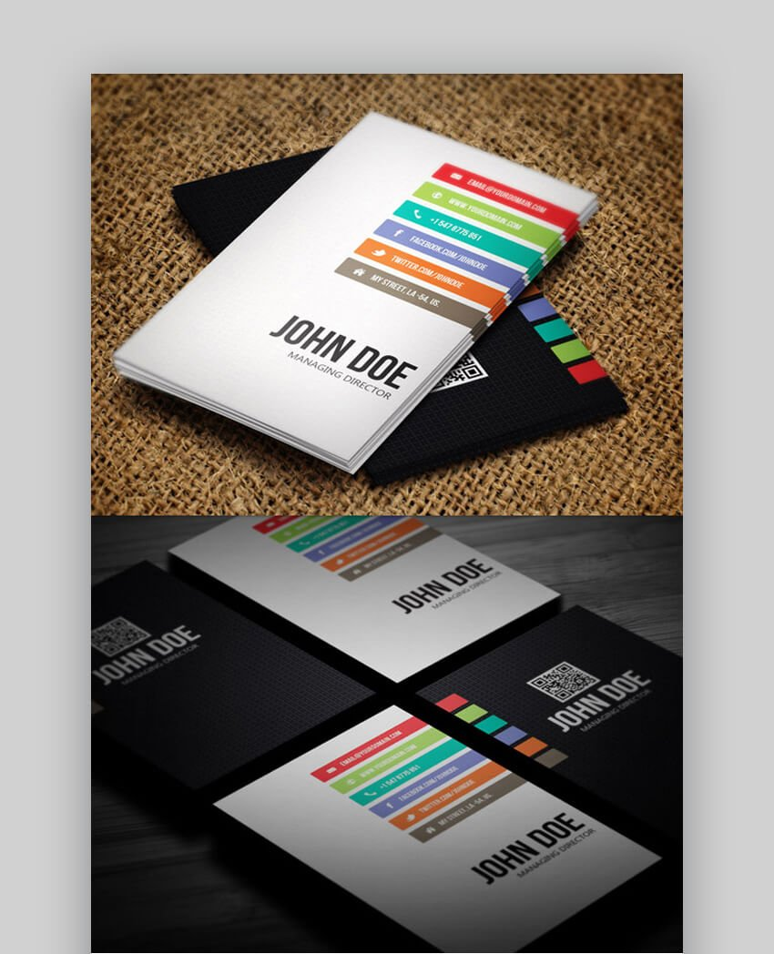 Minimal Business Card Photoshop Template Design