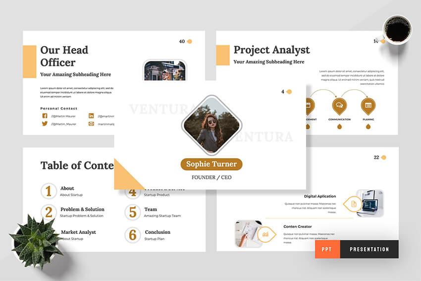 Ventura Startup PowerPoint Template