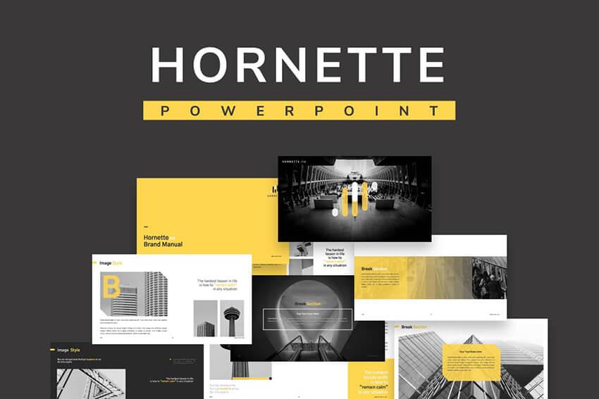 Hornette PowerPoint presentation design template