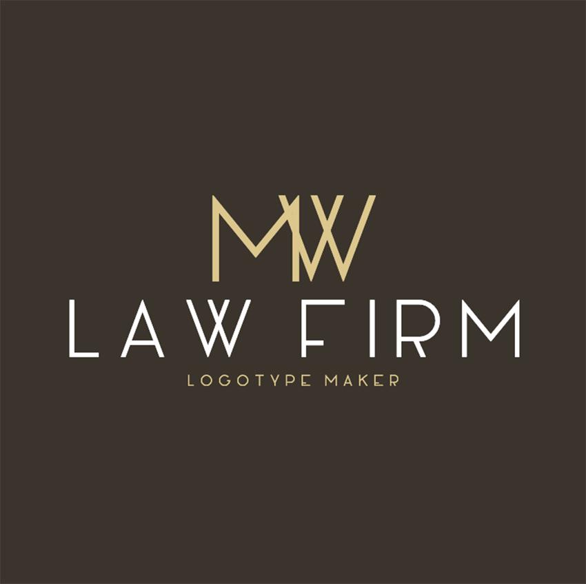 Law Firm Logo Maker for Monogram Logos