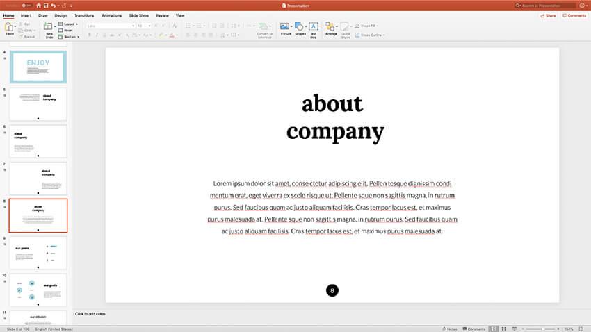 alternate slide layouts presentation styles PPT