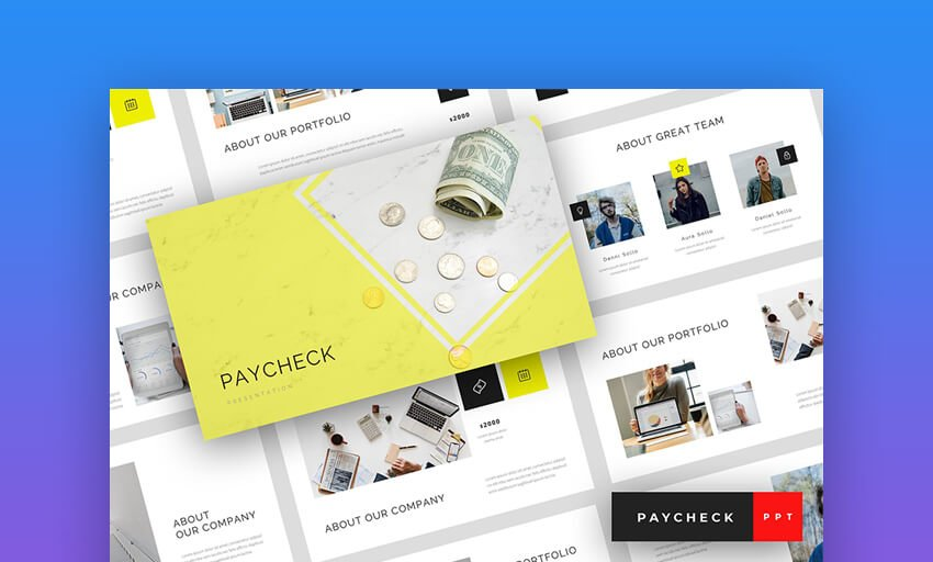 Paycheck - Bright Business Finance Presentation for PowerPoint