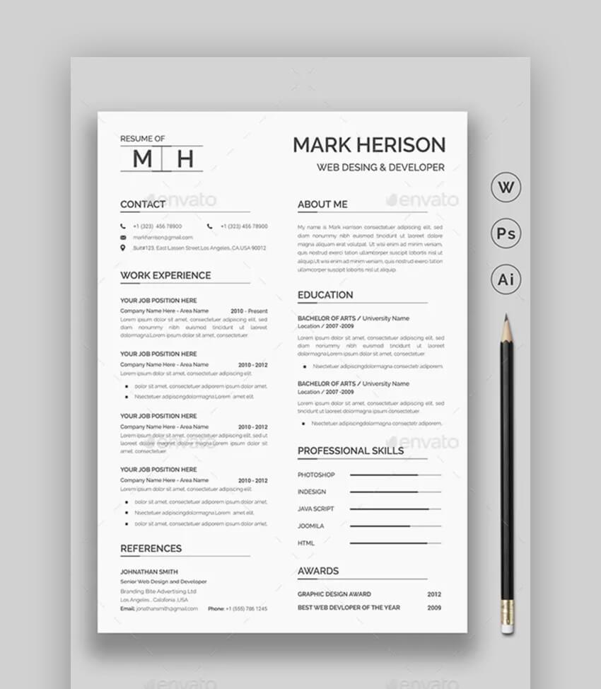 Professional Resume - Simple Resume Template