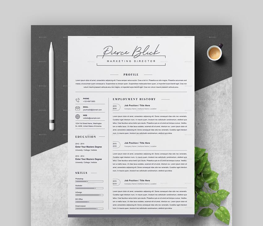Clean Resume - Basic Resume Template