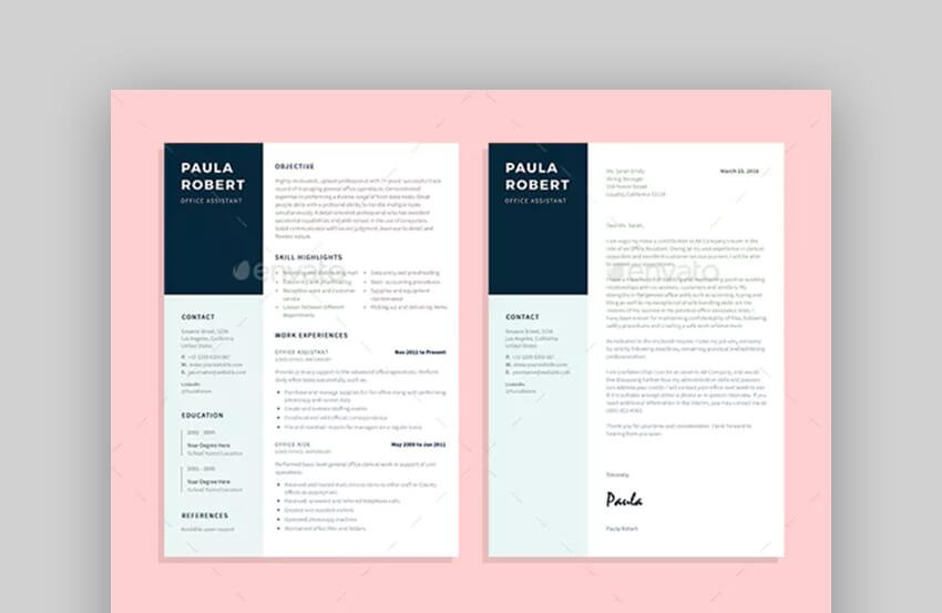 Office Assistant Resume - Simple Resume Template