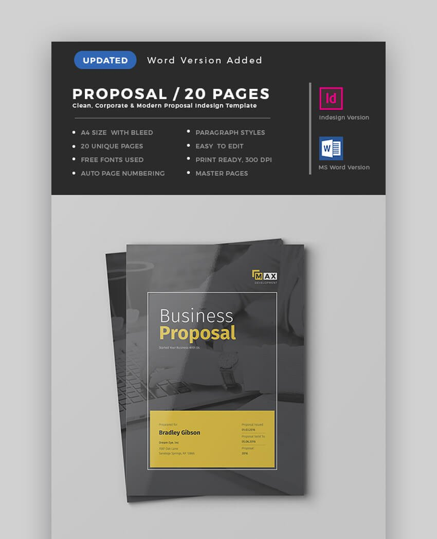 Proposal Template - Modern MS Word Business Proposal