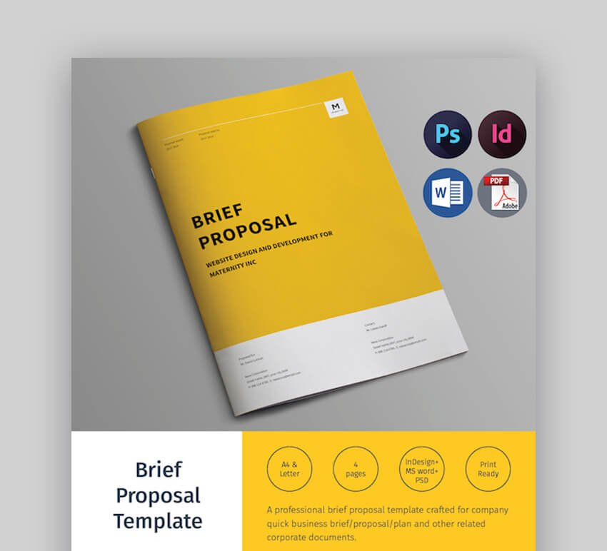 Brief Proposal - Attractive MS Word Business Proposal Template