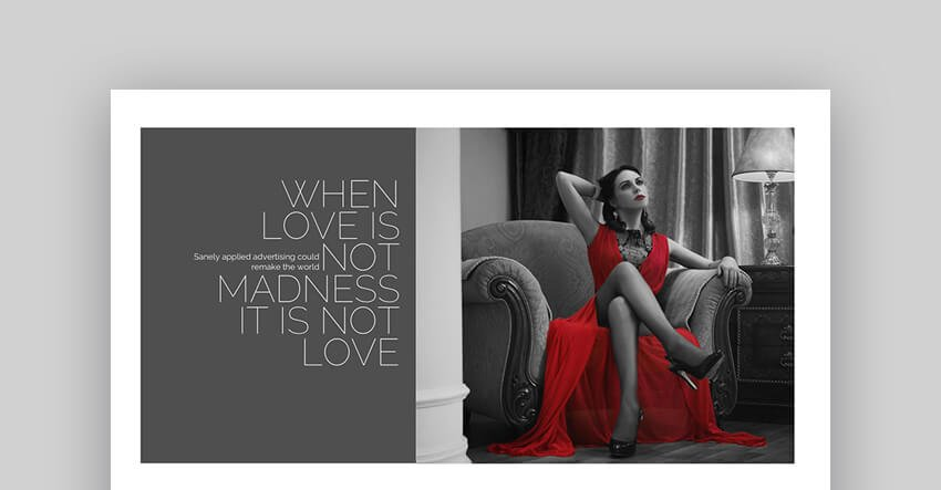 Brand PowerPoint Template For Wedding Slideshows