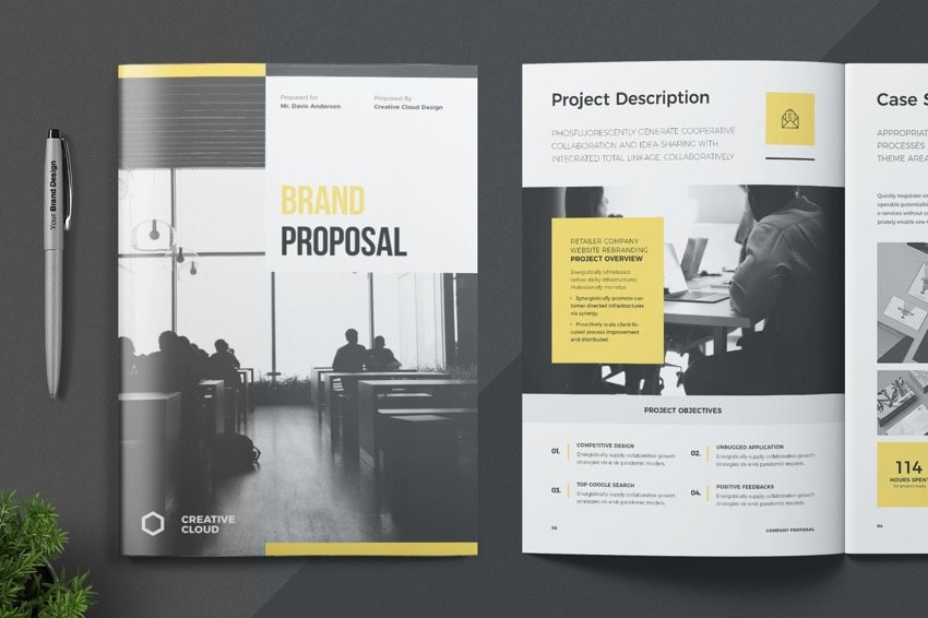 Proposal template from Elements