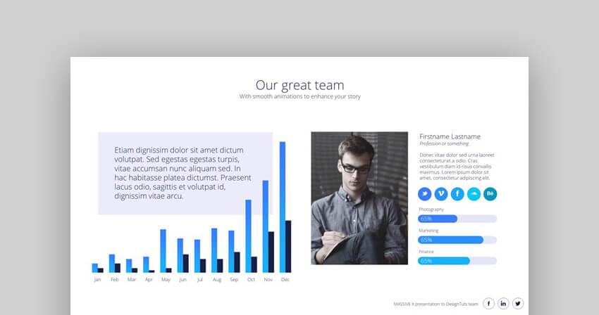 Massive X Modern Flowchart PowerPoint Template