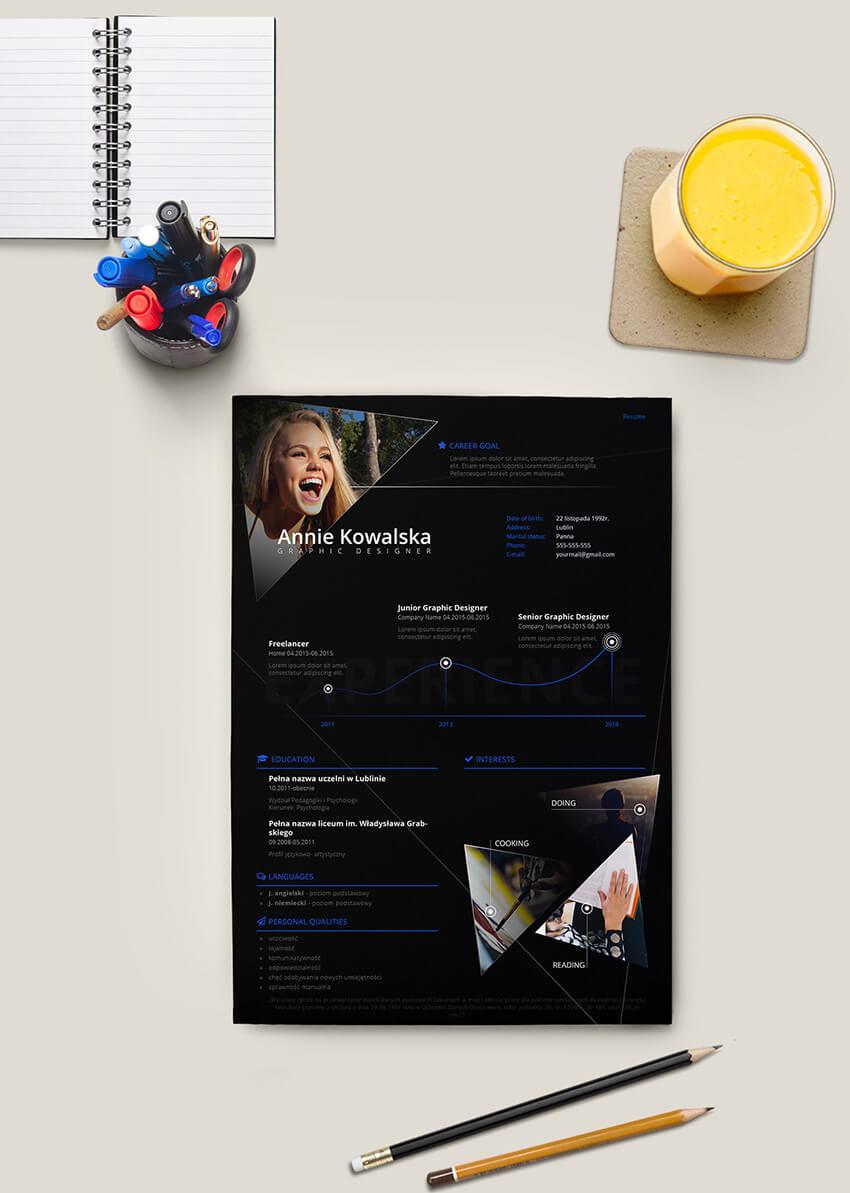 Minimalist Modern Resume Template Free Download