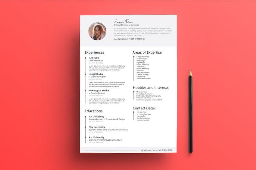 Professional Clean Resume Design