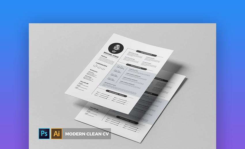 Modern CV and Resume - Eye-Catching Resume Template