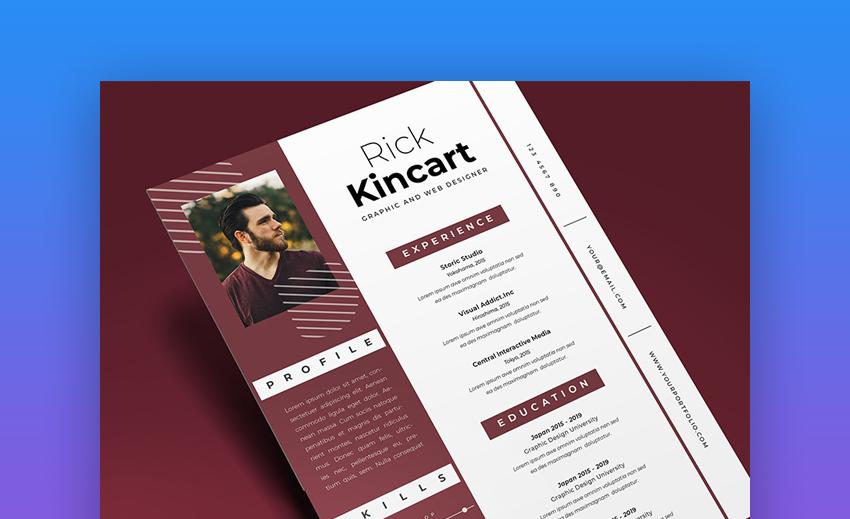 Resume Vol 52 - Creative Visual Resume Template