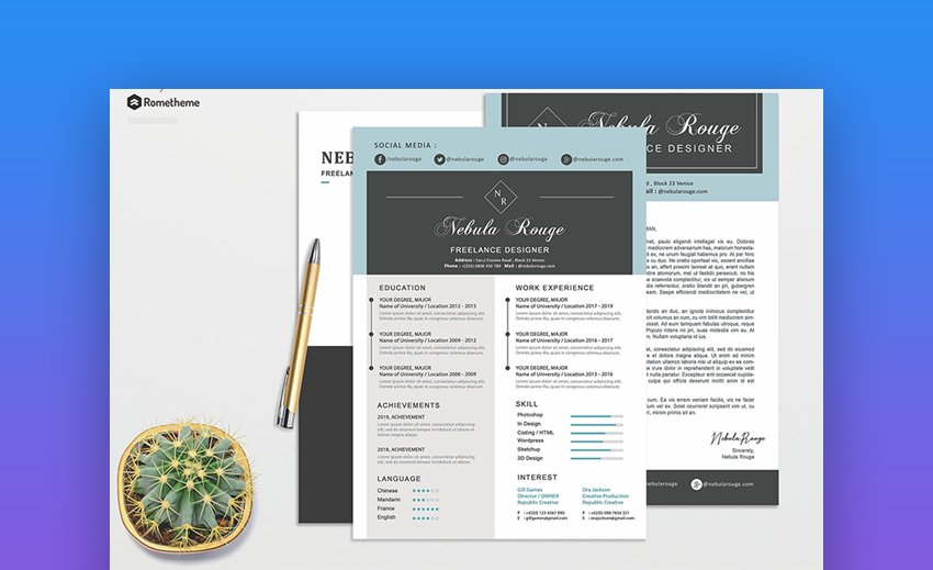 Resume - Awesome Visual Resume Template