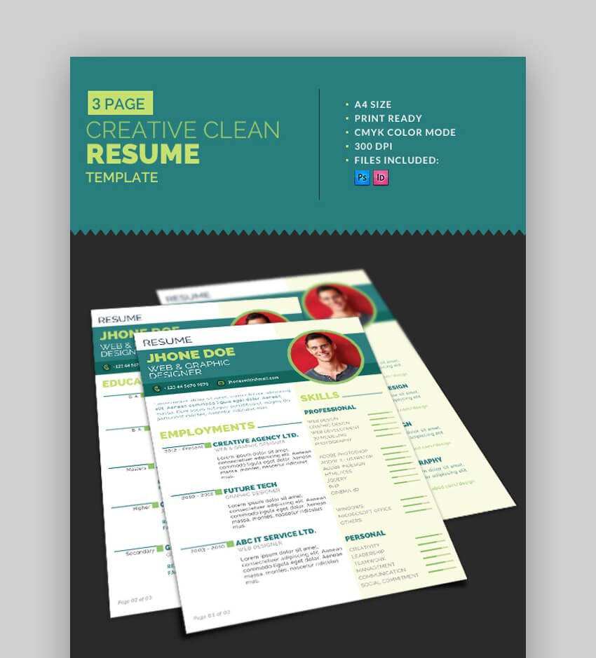 Creative Resume - Clean and Modern Resume Template