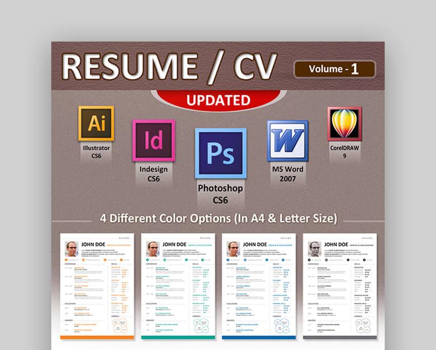 Resume CV - Attractive Resume Template
