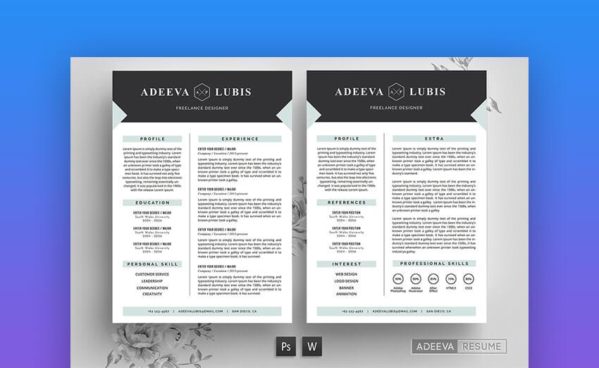 Modern Resume Beautiful MS Word Resume Template