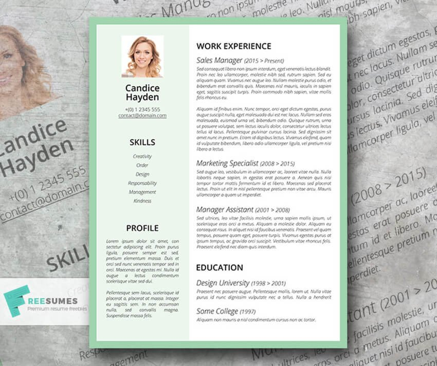 The Cognizant Candidate Free Resume Template for Word