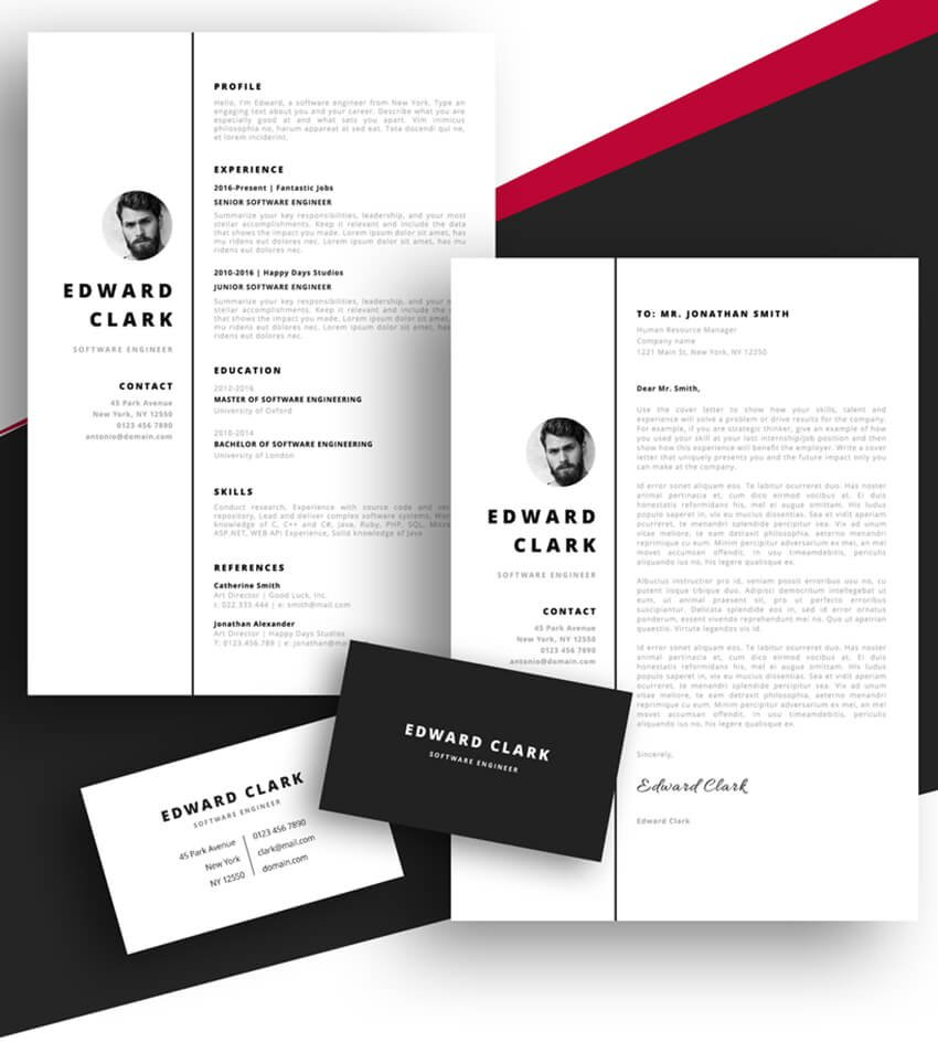 Meet Edward - Free Resume Template for Pages