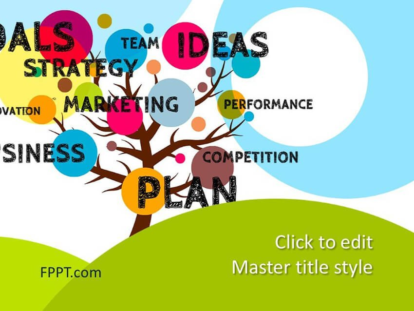 Free Tree Playful PowerPoint Presentation Template