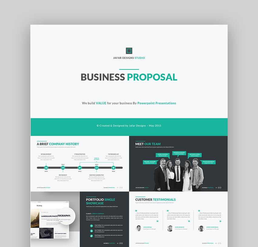 Business Plan Presentation Proposal - PPT Template