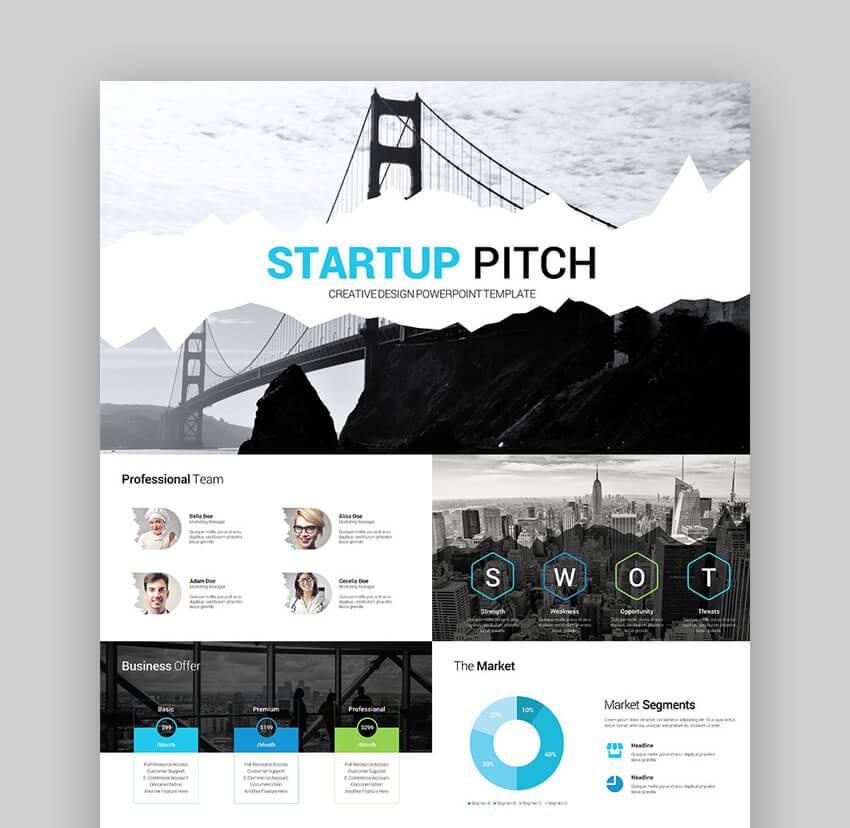Startup Pitch Presentation - Clean PPT Slide Deck