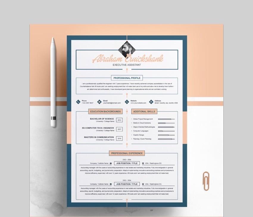 Vibrant Visual ResumeCV Template