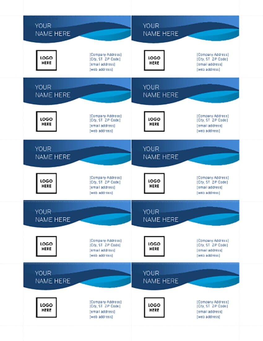 Free Microsoft Word Business Card Templates (Printable 21) Throughout Plain Business Card Template Microsoft Word