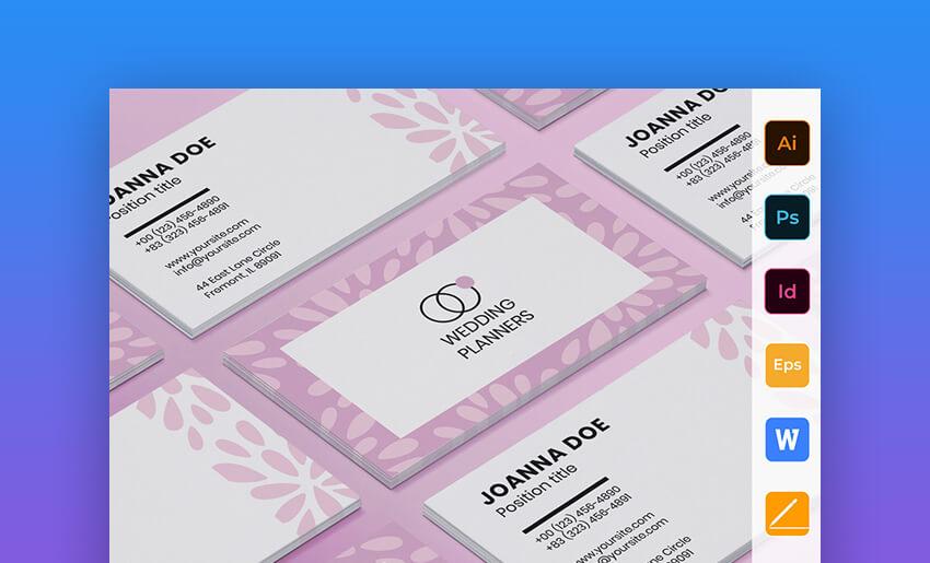 Wedding Planner - Elegant MS Word Business Card Template