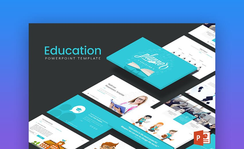 Education PowerPoint Template - Minimal Academic PowerPoint Template
