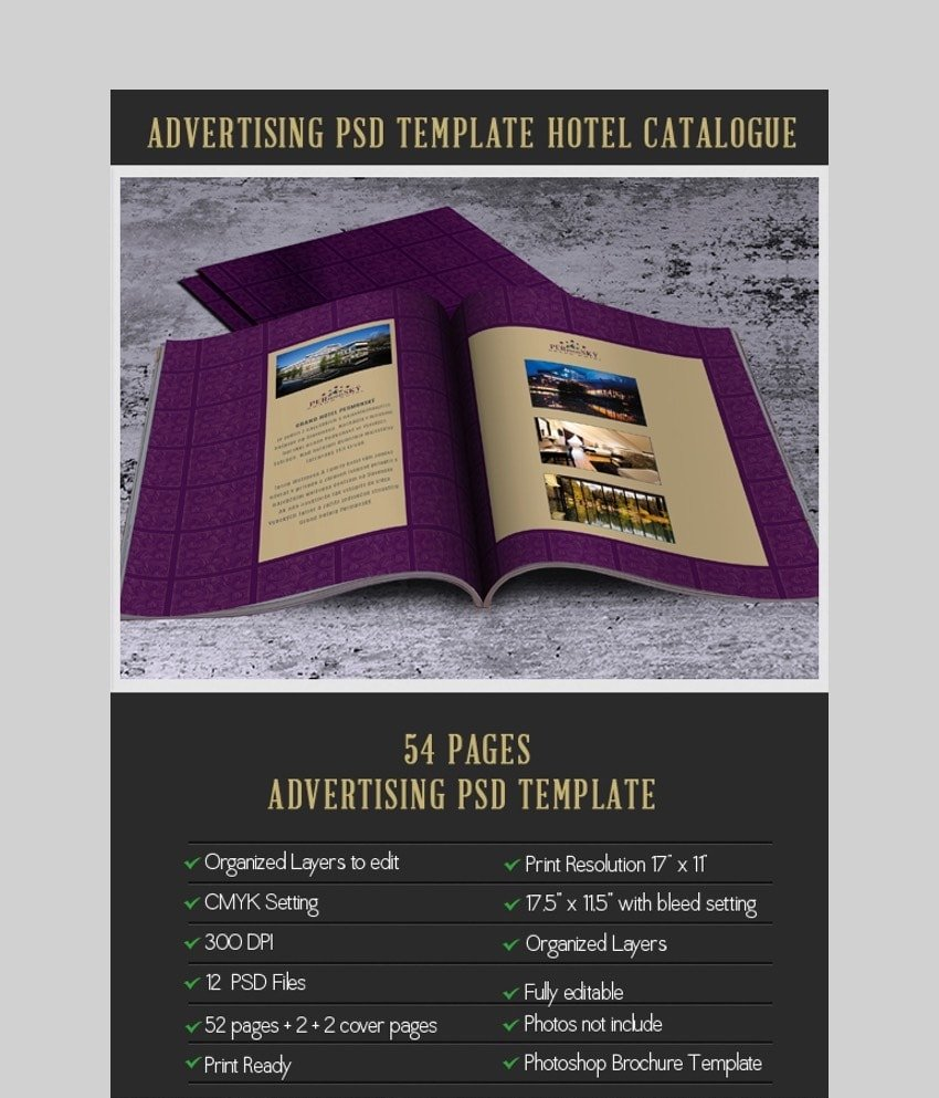 Advertising Brochure - Photoshop Brochure Template for Hotels