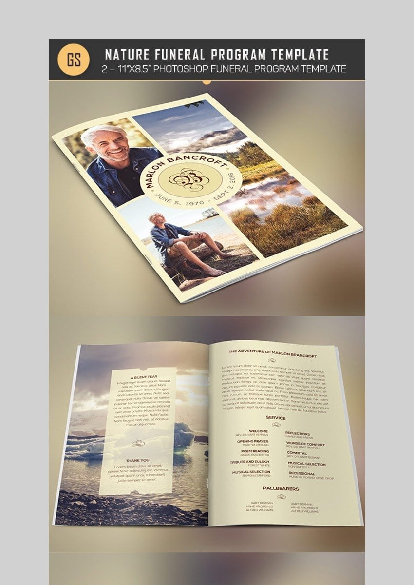 Nature Funeral - Clean Brochure Template for Photoshop