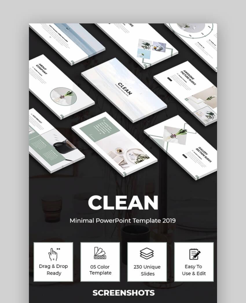 Clean - Plantilla PowerPoint Minimalista