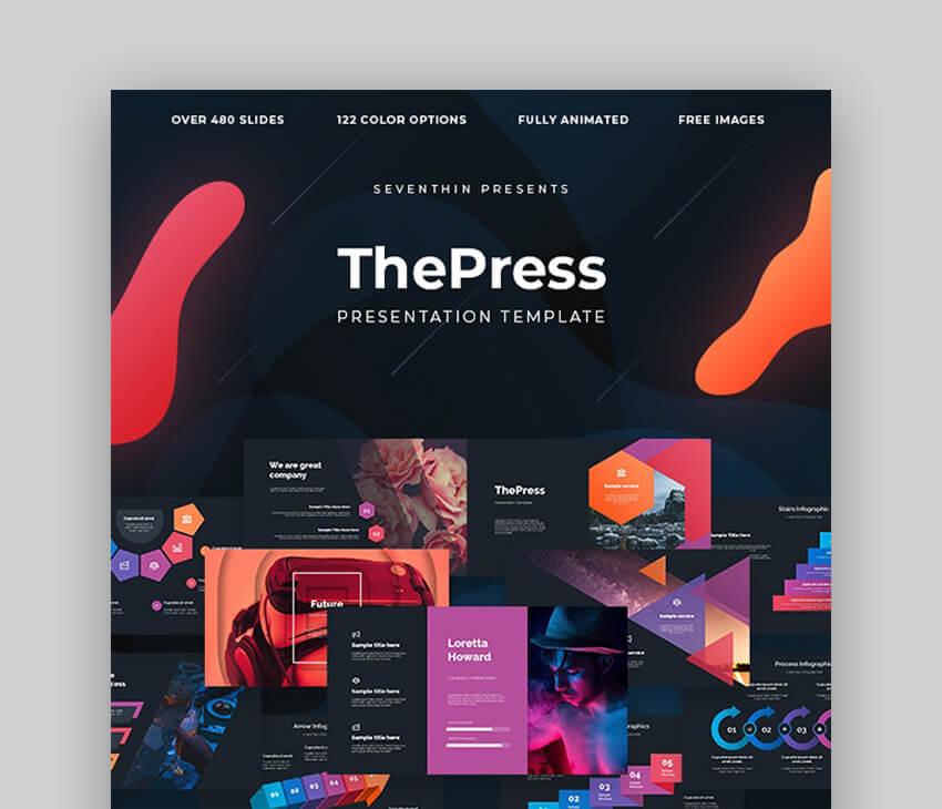 The Press - Plantilla PowerPoint Animada